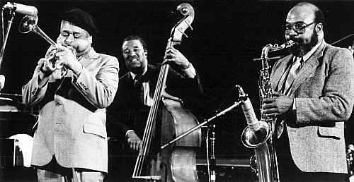 Dizzy Gillespie, Ray Brown, James Moody